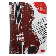 Violin Kindle Case; Abigail Davidson Art