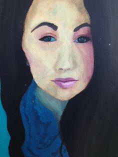 Student acrylic painting..self-portrait