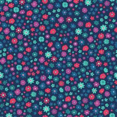 Bright Ditsy by Petroula Tsipitori Seamless Repeat Vector Royalty-Free Stock Pattern
