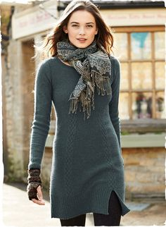 Peruvian Connection | Cambridge Dress Terrific over leggings; the go-anywhere knit tunic-dress
