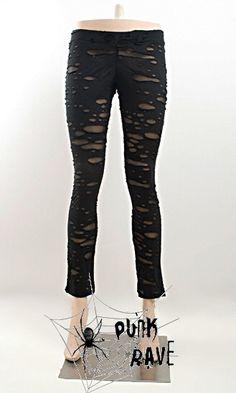 Holey leggings Black | Pixieknix Price £20