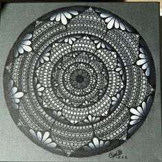 Gorgeous grey floral mandala created by @laurie.charlotte_drawings with their Chameleon Pens.   #mandala #mandalatherapy #drawing #chameleonpens #graphit #painting #drawingart #mandalaart #artist #grey #blxckmandalas #creative  #shades #artwork