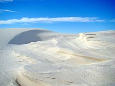 White Sand Dunes, White Sands National Monument, New Mexico, by ceropegia, via Flickr