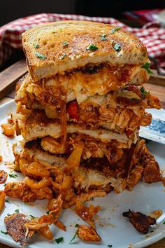 BBQ Chicken Grilled Cheese Healthy Gluten Free Recipes, Healthy Dinner Recipes, Cooking Recipes, Grilled Cheese Recipes, Chicken Recipes, Pickled Hot Peppers, Grilled Bbq Chicken, Wrap Sandwiches, Stuffed Hot Peppers