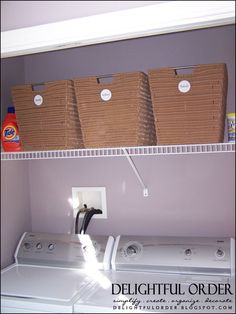 Delightful Order: Small Laundry Room Solutions- Clients Home