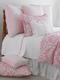 Maggie Pink Damask Duvet Bedding. This pink is awesom