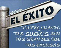 Déjate de excusas y ponte a cumplir sueños!!! #anabelycarlos #exito #sueños