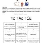 Weekly homework packet for  Kindergarten students based on the Common Core Standards.
