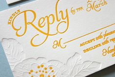 Alison and Gary Wedding Invitation  Lowercase a: Design Studio