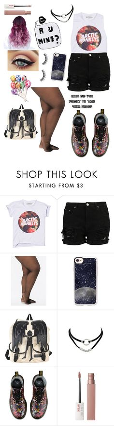 """R U Mine?"" by dumb-ass-cactus ❤ liked on Polyvore featuring Ashley Stewart, Casetify, Hot Topic, Dr. Martens and Maybelline"