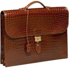 hermes crocodile skin briefcase