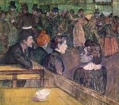 At the Moulin de La Galette - Henri de Toulouse Lautrec