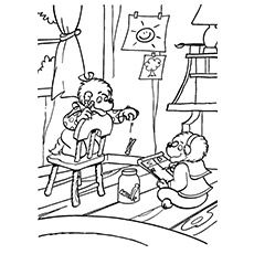 berenstain bears go to school coloring page coloring pages