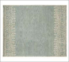 L.O.V.E. for Guest Bedroom:  Desa Rug in Blue 5' x 8' $479.00 [pure yarn-dyed wool]