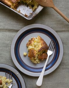 Pasilla Chile and Cheddar Spoonbread has a spongy flavor made from a grits mixture.