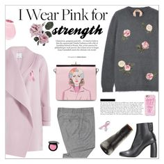 """I Wear Pink for STRENGTH"" by little-curly-juli ❤ liked on Polyvore featuring N°21, Vince, Bling Jewelry, Casetify, Prada, Bobbi Brown Cosmetics, Eos, STELLA McCARTNEY, october and IWearPinkFor"