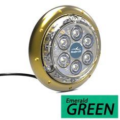 Bluefin LED Barracuda B12 Surface Mount Underwater Light - 4500 Lumens - Emerald Green