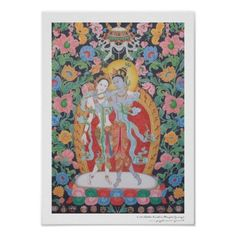 Radha-Krishna Print.  AH, I want this hanging in my dining room!