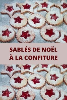 """Sablés de Noël à la confiture Christmas shortbread with jam Today, I offer you a recipe requested and approved by my chip: shortbread with jam. This recipe is taken from the book """"Petits sablés de Noë Merry Christmas, Best Christmas Cookies, Christmas Diy, Xmas, Desserts With Biscuits, Diy Bathroom, Christmas Fashion, Shortbread Cookies, Christmas Wallpaper"""