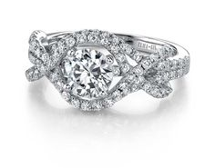 How Pretty!  Elma Gil : Diamond Engagement Ring-DR-335