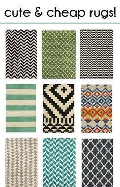 bold, beautiful and AFFORDABLE rugs!   residenceblog.comresidenceblog.com