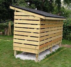 firewood shed, woodshed