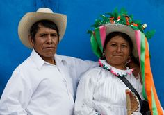 Otomi indian couple.