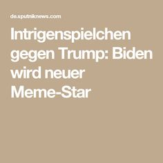 Intrigenspielchen gegen Trump: Biden wird neuer Meme-Star