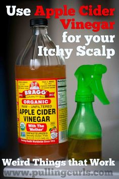 Apple Cider Vinegar as an Itchy Scalp Remedy - Pulling Curls