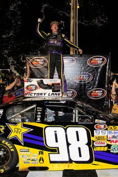 NASCAR K   Pro Series Racer Dylan Kwasniewski Wins at Langley Speedway in Virginia #knfilters