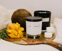 Air of Grace | Coconut & Mango Soy Wax Candle | Hand poured in Melbourne