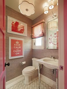 Bathroom, Charming Photo Of How To Remodel A Bathroom With Diy Bathroom Decor Plus Wooden Combine Red Bathroom Decor Ideas Diy Also Picture Frames For Cool Lighting Plus White Toilet And White Sink: How to Remodel a Bathroom in Simple Steps