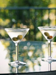 Dirty Martini Recipe : Decorating : Home & Garden Television Straight up, ice cold, double olives, thank you!