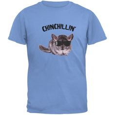 Chinchillin Chinchilla Carolina Blue Youth T-Shirt