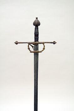 Espada ropera de lazo. Rapier. ca. 1570. Italia. Long. 121 cm); Anch. 24,4 cm; Prof. 12.7cm; Peso 1144. Metropolitan Museum of Art. Rogers Fund, 1904. Inv nº 1904.3.287