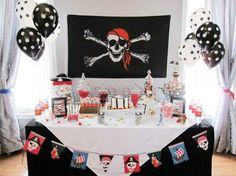Festa pirata preto e branco