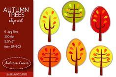 Autumn Trees clip art by Laureling Studios http://crtv.mk/iOAB