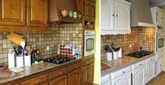 ma cuisine en ch ne repeinte avant apr s cuisine en ch ne repeindre et avant apr s. Black Bedroom Furniture Sets. Home Design Ideas