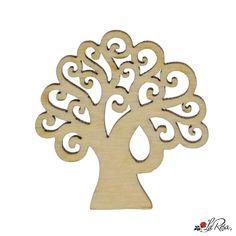 albero della vita per bomboniere in legno 12 pezzi Silhouette Curio, The Hamptons, Fantasy Art, Jewelry Making, Symbols, Letters, Ornaments, Wood, Hobby