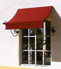 window awning valance | The Scroll style window awning adds a unique look to your windows. We ...