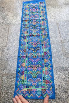Vintage Hmong fabric Handmade Fabrics handmade by dellshop on Etsy Vintage Embroidery, Embroidery Designs, Machine Embroidery, International Craft, Tribal Fabric, Ethnic Bag, Needlepoint Stitches, Cross Stitch Patterns, 21 Days