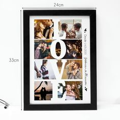 Cute Couple Gifts, Love Gifts, Diy Gifts, Photos Colage, Save The Date Pictures, Foto Frame, Frame Layout, Birthday Surprise Boyfriend, Photo Wall Decor
