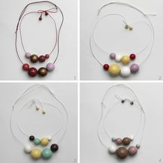 Mama & Me wooden bead necklaces by Kristina Klarin