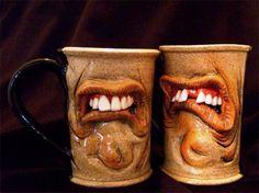 Interesting mugs  http://4.bp.blogspot.com/--cnCVrq3GM0/UE6vBm2JEOI/AAAAAAAAaII/SZGiIWMTsok/s1600/Weird+Coffee+Mug+Designs+(1).jpg