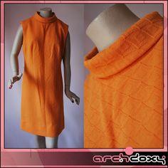 Vintage 1960s Orange MOD Textured Turtle Neck Sleeveles Scooter Twiggy Dress #vintage http://www.ebay.co.uk/itm/Vintage-1960s-Orange-MOD-Textured-Turtle-Neck-Sleeveles-Scooter-Twiggy-Dress-14-/282048016965?ssPageName=STRK:MESE:IT