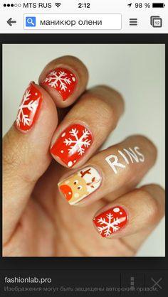 Наверное, остановлюсь на этом варианте на Новый год! Только на среднем пальчике будет дел мороз!