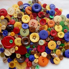 Your place to buy and sell all things handmade Button Art, Button Crafts, Button Hole, Yellow And Brown, Green And Purple, Mod Podge Crafts, Button Bouquet, Types Of Buttons, Block Craft