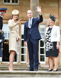 On 14th June 2016, the Duke and Duchess of Cambridge at the tree planting at Hillsborough Castle's annual garden party in Northern Ireland.