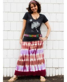 Moonplay t-shirt with #tiedye maxi skirt