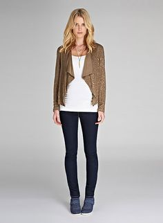 Isabella Oliver Maisy Sequin Maternity Jacket at